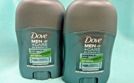 2 Dove Men Care Antiperspirant 48hr Deodorant Minerals + Sage Travel 0.5 Oz New! - $5.44