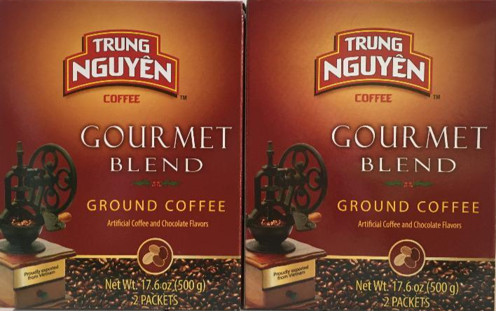 Primary image for Trung Nguyen Gourmet Blend Ground Coffee 17.6 oz ( Pack of 2 )