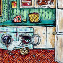 6x6 siamese cat ceramic art tile COASTER gift JSCHMETZ modern folk art l... - $42.00