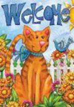 Garden Flag 5021 Welcome Cat  - $7.95