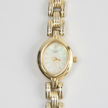 Citizen Vintage Ladies Mother of Pearl Gold Band Bracelet Dress Watch - $73.76