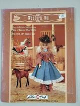 Western Gal Doll Costume Skirt Fringed Jacket Boots Hat Fibre Craft  FCM356 - $8.90