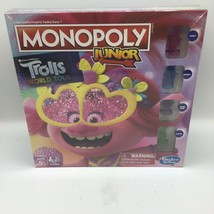 Monopoly Junior: DreamWorks Trolls World Tour Edition Board Game New - $26.72