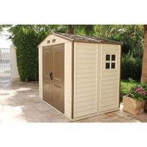 Storage Shed Plastic 8 x 6 Vinyl Heavy Duty Galvanized Steel Outdoor Gar... - $602.95