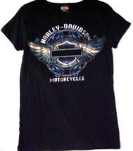 "Harley Davidson T-Shirt, Size Medium, ""Harley-Davidson Motorcycles.""  Bl... - $21.99"