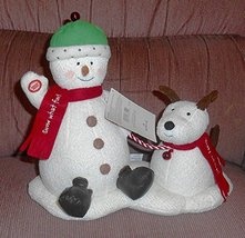Hallmark 2004 Jingle Pals Techno Plush Animated Snowman Dog - $55.00