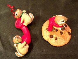 Hallmark Handcrafted Ornaments Friendship Line & Chocolate Chipmunk AA-191794 Co image 6