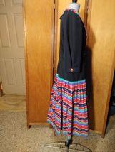 Eileen Scott Dallas Dress Size 8 Multi-Colored Vintage  image 5