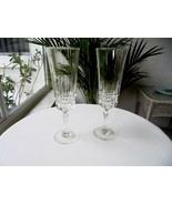 Set of 2 Cris D'Arques Barcelona Pattern Champagne Flutes - $27.71