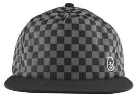 Neff Mens Black/Grey Bogie Checker Adjustable Snapback Hat Cap One Size NEW