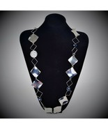Stainless steel Jewelry Silver Necklace Women Fashion Jewelry Luxe crystal  - $29.99