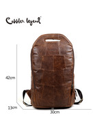 Cobbler Legend 2019 Men Cowhide Genuine Leather Fashion Vintage Backpa L... - $128.84