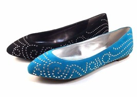 Enzo Angiolini Sahni Suede Leather Pointy Studed Ballet Flats Choose Sz/... - $35.20