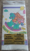 """1st First Birthday Tablecloth Bears Rocking Horse 54"""" x 84"""" Baby Party C... - $7.28 CAD"""