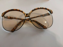 Serengeti Tiger Stripe Sassaby Species Tinted Avaitor Sunglasses 80's Copper - $197.99