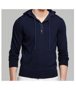 Michael Kors, Nylon Hood Pullover Sweater, Midnight Blue, size M, ($195) - $52.66
