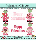 Cute Froggies Valentines Girls - $1.35
