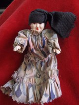 Antique Vintage Plastic Gypsy Doll Hand Painted Face - $10.36