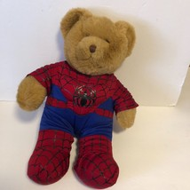 Build A Bear Light Brown Bear Plush In Spiderman Outfit - $11.29
