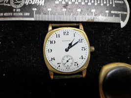 Waltham Vintage 17 Jewel Cushion Case Watch For Trench Restoration Parts No Back - $120.94