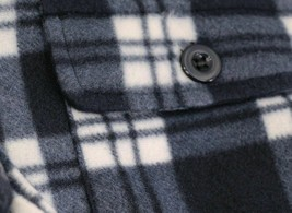 Men's Heavyweight Flannel Zip Up Sherpa Hoodie Navy Jacket w/ Defects - L image 2