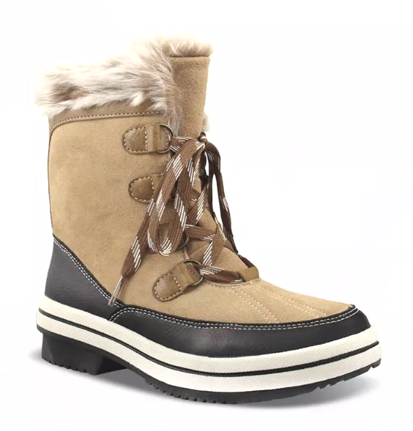 Universal Thread Women's Ellysia Tan Suede Leather Winter Snow Winter Boots NWT