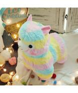 Kawaii Rainbow Alpaca Plush Toy Stuffed Animal Llama Doll Soft Gift Girl... - $6.94+