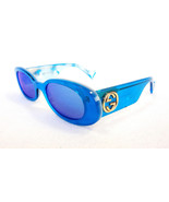 GUCCI Women's Sunglasses GG0517S 006 Blue 52-20-145 MADE IN ITALY - New - $395.00