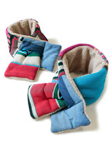 Kapital GAUDY knit patchwork KESA muffler pink red Made in Japan - $239.95