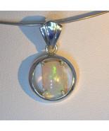 Pendant Welo Opal Rectangle Unisex Handcrafted Sterling Silver Dangle De... - $84.55