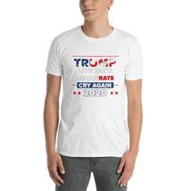 Lets Democrats Cry again Short-Sleeve Unisex T-Shirt Trump 2020 image 3