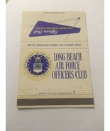 Vintage Matchbook Cover Matchcover Long Beach Air Force Officers Club Ca... - $4.75