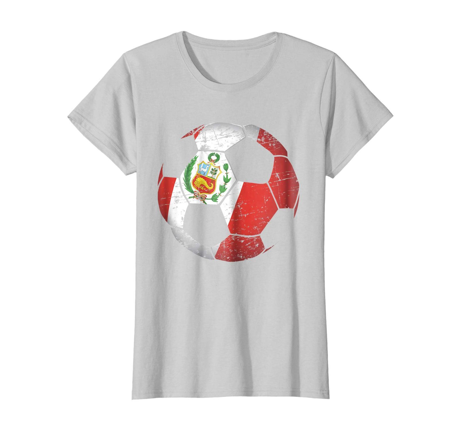 250f9b13f Dad Shirts - Peru Soccer Ball Flag Jersey Shirt - Peruvian Football Wowen