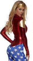 Forplay Metallic Sexy Wonder Woman Super Hero Costume with Star-Spangled Legs image 2
