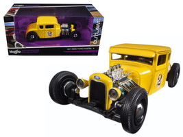 """1929 Ford Model A Yellow #2 \Outlaws\"""" 1/24 Diecast Model Car by Maisto"""" - $34.37"""