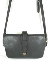 Dooney & Bourke Vintage Small Black Pebbled Leather Shoulder Bag-Distressed - $27.15
