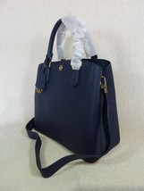 NWT Tory Burch Navy Saffiano Leather Robinson Triple-compartment Tote $458 image 2