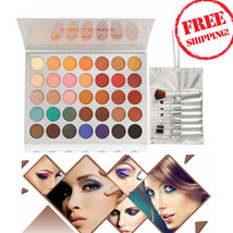 Jaclyn Hill Morphe 35 Color Eye Shadow Palette Makeup Brushes Prof Cosme... - $15.34