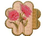 Set of 4, Villatic Cup Stand Ceramic Cup Tray Tea Cup Mat Flower Shapes