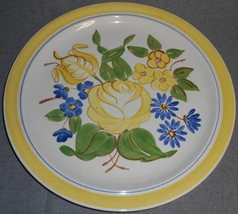 1940s Red Wing BRITTANY PATTERN Hand Painted CHOP PLATE/PLATTER - $39.59