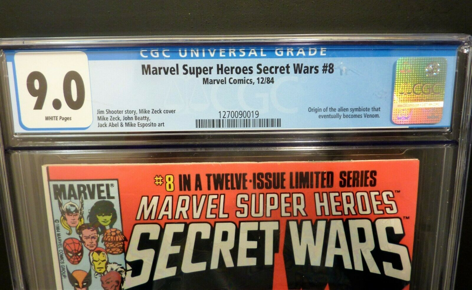 1984 Marvel Super Heroes Secret Wars #8 CGC 9.0
