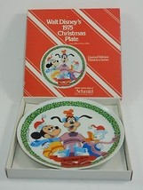 Schmid Walt Disney Character 1975 Christmas Plate w/Box Goofy Mickey Donald - $16.82