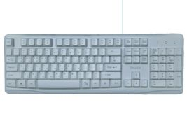 iRiver Korean English USB Wired Keyboard Membrane with Cover Protector (White) image 3