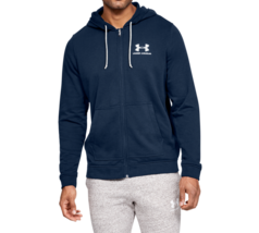 Under Armour Men's Sportstyle Terry FZ Hoodie NEW AUTHENTIC Navy 1345776... - $59.99