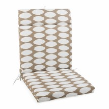 "Taupe Dots Outdoor Patio Chair Cushion Pad Hinged Seat Back 44"" L x 22"" W - $58.90"