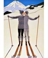 "11x14""Decor Canvas.Interior design Art studio.Ski girlfriend.Skiing fash... - $28.05"