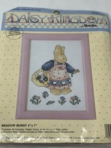 Daisy Kingdom Meadow Bunny Bucilla Counted Cross Stitch Kit W Frame 5x7 1991 - $13.00