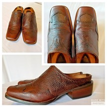 ARIAT Womens Boot Shoe Size 7 B Slip on Brown Square Toe Leather Mule  #... - $61.74