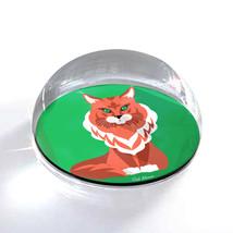 """Orange Cartoon Cat Illustration Art Gift 2"""" Crystal Dome Magnet or Paper... - $15.99"""