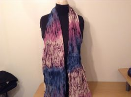 New fashion scarf shibori water color style in choice of color scheme image 8